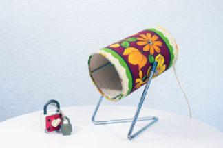 Lampe seventies carton et tissu
