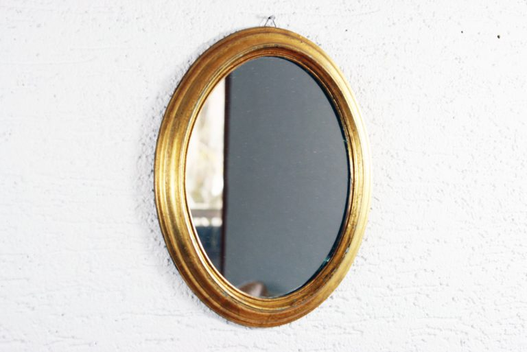 Miroir ovale année 60