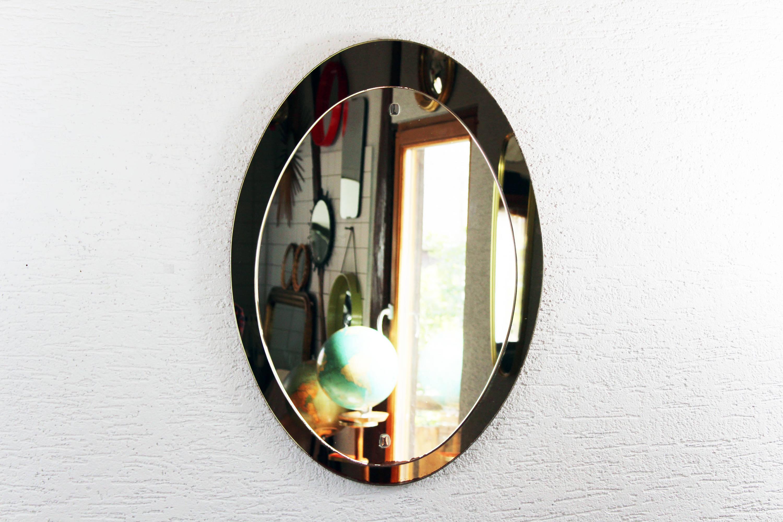 Miroir Année 50 miroir ovale années 50 – syn brocante