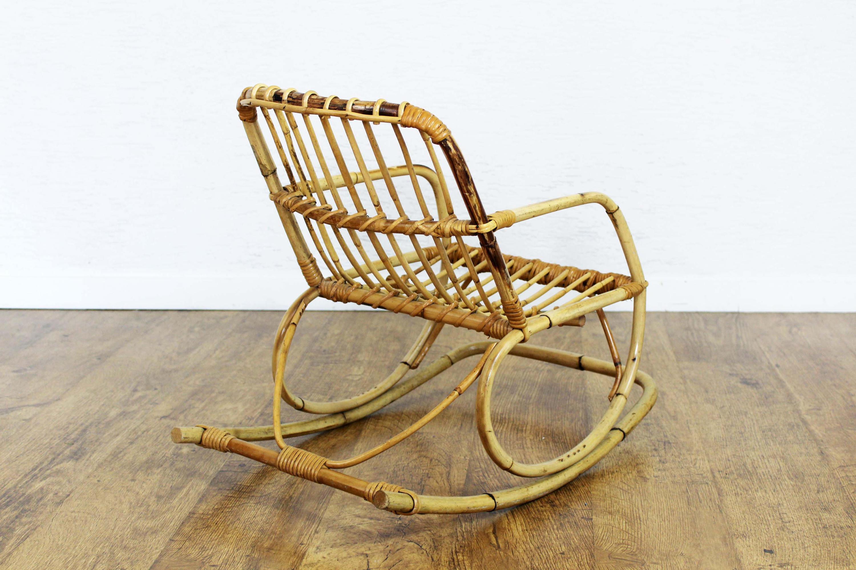 chaise bascule en rotin pour enfant syn brocante. Black Bedroom Furniture Sets. Home Design Ideas