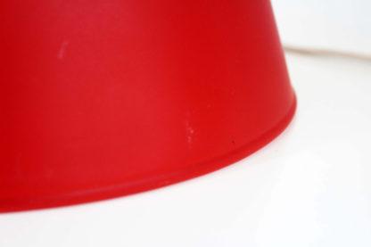 Lampe cone en verre rouge