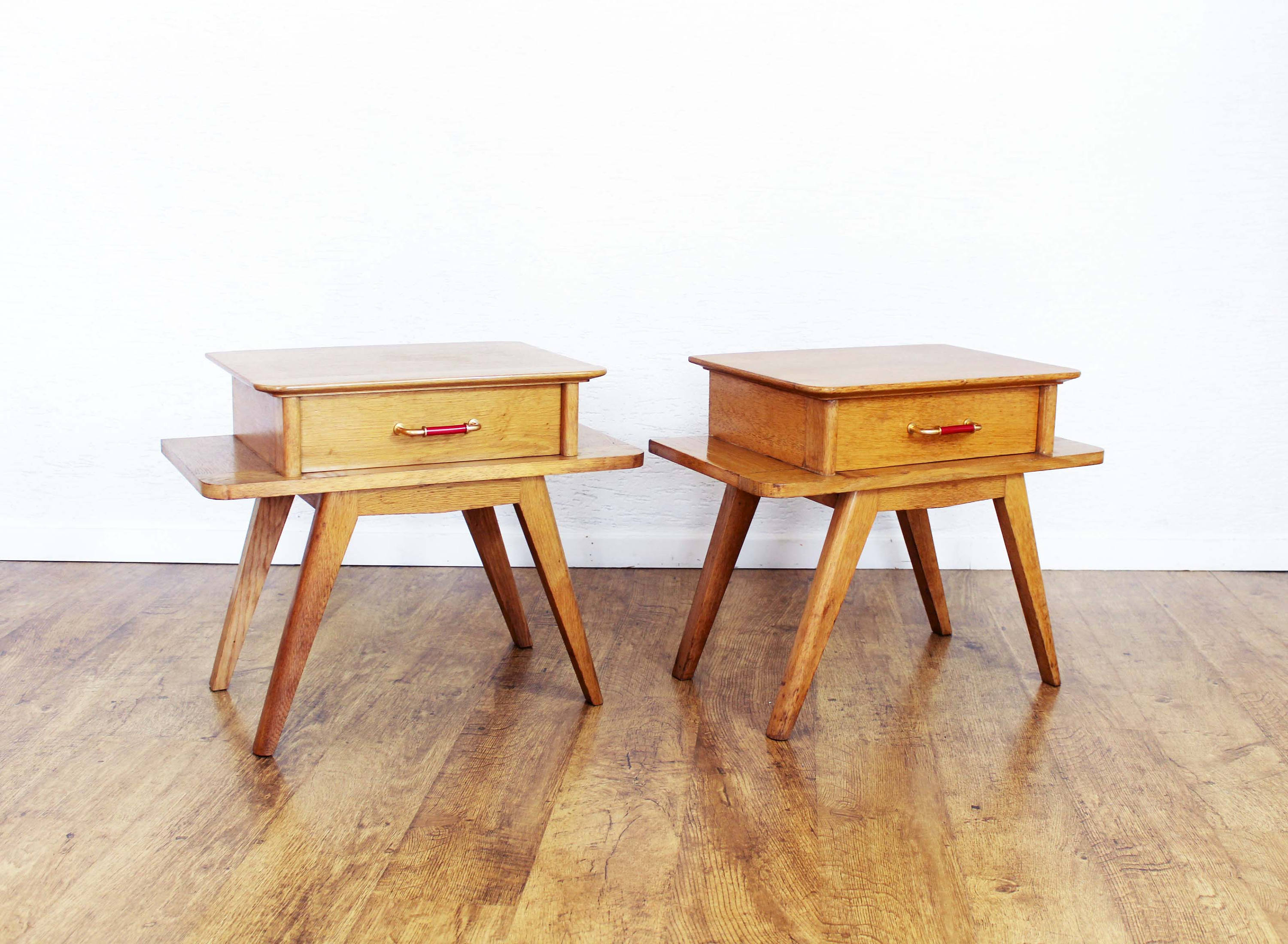 Paire de chevets ou tables d'appoints style scandinave