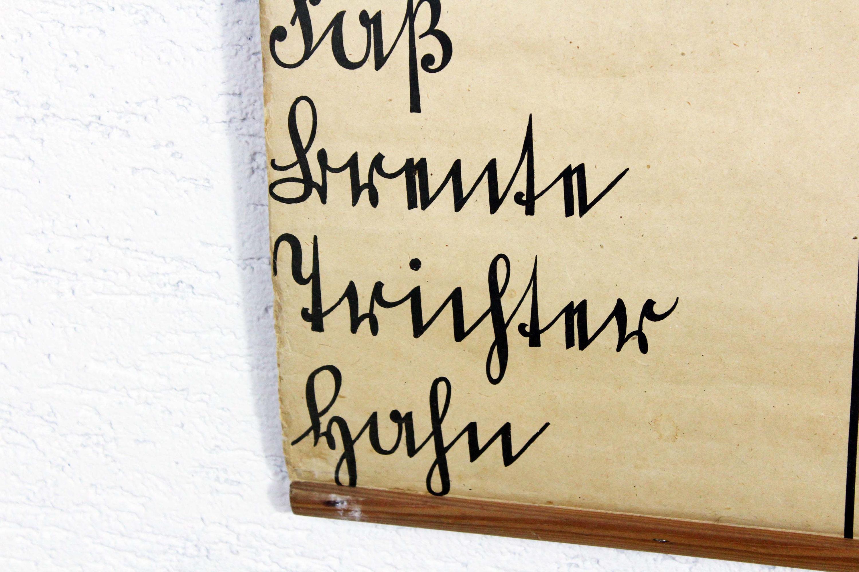 Ancienne affiche scolaire allemande