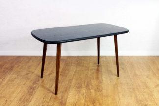 Table basse vintage années 70 / plateau en verre