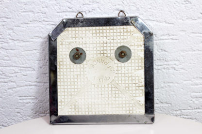 """Ancien porte torchon en céramique et métal avec 2 crochets / """"déco cuisine"""""""