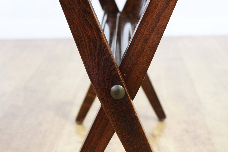 Porte revue/vinyles vintage pliant en bois. BRAAKMAN pour Pastoe