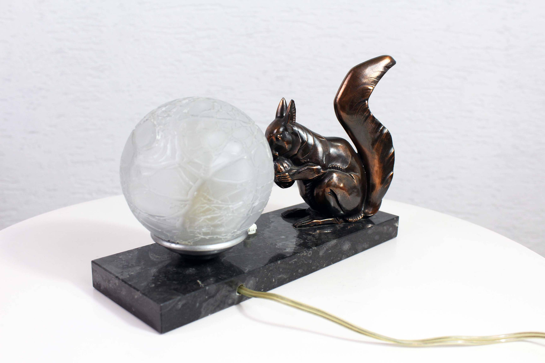 Lampe de table Art Déco Ecureuil années 30