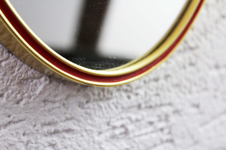"""Miroir rétroviseur """"asymétrique"""" liseret rouge"""