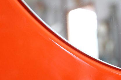 Miroir Space Age en métal émaillé Orange