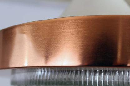Superbe suspension en métal, cuivre et verre