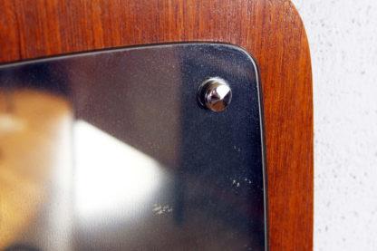 Miroir scandinave forme libre plaquage teck
