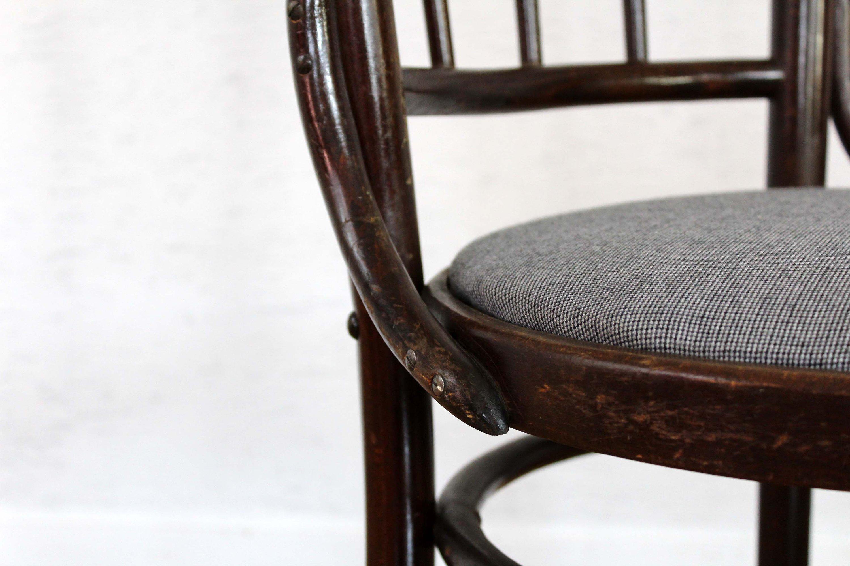 Chaise Bistrot Style Baumann Assise En Tissu