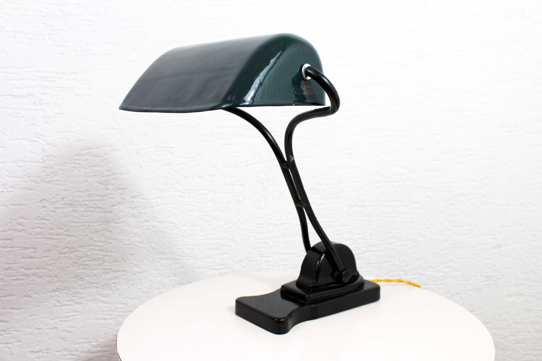 Belle Lampe De Bureau Horax Annees 30 Syn Brocante