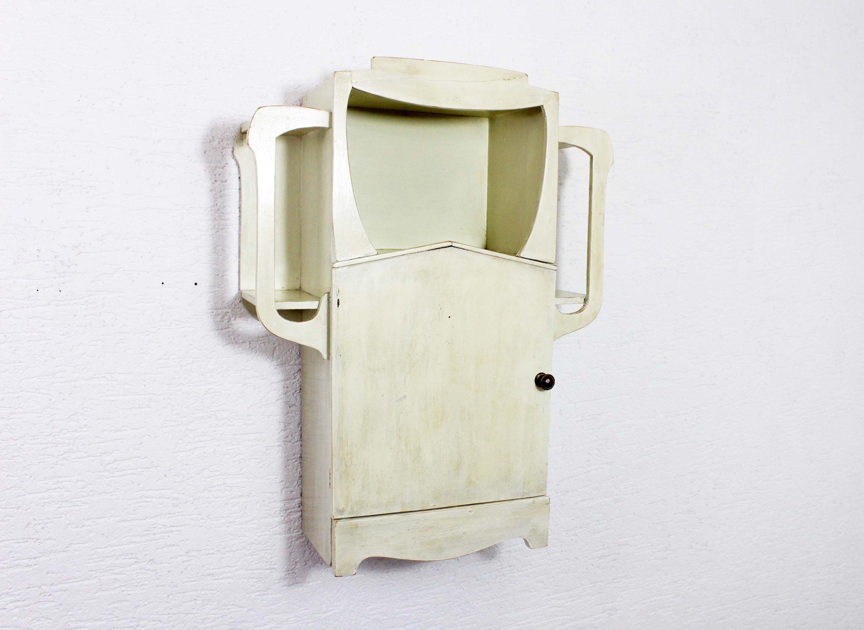 Petit meuble ARt Nouveau de salle de bain ou de toilette – Syn Brocante